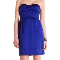 NWT Kay Unger Phoebe Couture Strapless Blue Dress Gorgeous NWT Phoebe Couture for Kay Unger pleated bust strapless cocktail dress!  The color of this dress is jaw-dropping gorgeous - a rich jewel toned blue that flatters every skin tone.  This is the perfect cocktail or formal dress for any wedding, benefit, or formal party! Kay Unger Dresses
