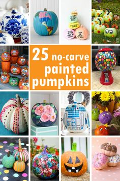 Painted pumpkins: A