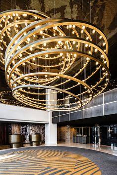 View the full picture gallery of Radisson Blu Hotel Hotel Lobby Interior Design, Interior Architecture, Hotel Reception, Light Installation, Interactive Design, Interior Design Inspiration, Montreal, Hotels, Studio