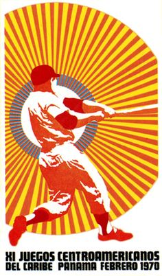 Cuban sports poster designed by Jesus Fornjåns 1970