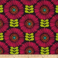 Fringe Flowers in Magenta by Michael Miller от fabricfetish