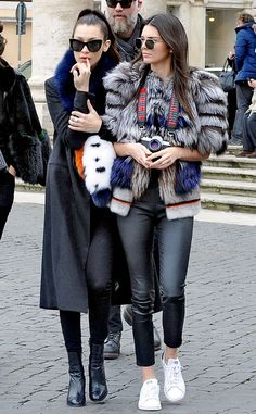 Kendall Jenner & Bella Hadid from The Big Picture: Today's Hot Pics The models play tourists in Paris as they stroll the streets, shopping and photographing.