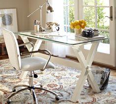Ava Wood Desk - Antique White | Pottery Barn