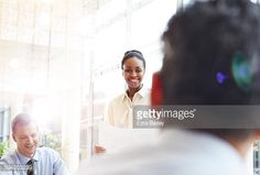 Stock Photo : Work colleagues discussing a project together.
