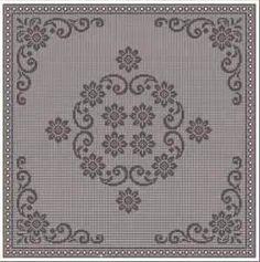 Knitting Patterns, Crochet Patterns, Filet Crochet, Beautiful Crochet, Line Drawing, Blackwork, Diy And Crafts, Projects To Try, Cross Stitch