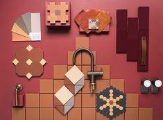 Earth coloured tiles by Olde English Tiles Earth Color, Color Tile, Colour Inspiration, Earth Tones, Earthy, Paint Colors, Tiles, Wall Lights, English