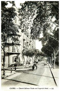 Soliman Pasha's St. & Imperial Hotel - Cairo in 1900's