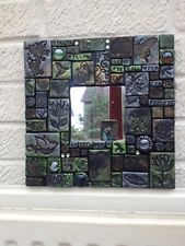 "Handcrafted Tiled Mosaic Mirror Every Tile Is Unique ""Mirror Mirror On The Wall"""