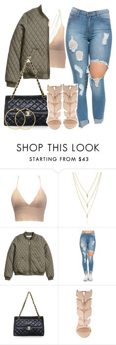"""""""How deep is your love"""" by queen-tiller ❤ liked on Polyvore featuring H&M, Chanel, Giuseppe Zanotti, women's clothing, women's fashion, women, female, woman, misses and juniors"""