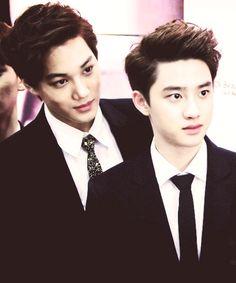 Kai and Kyungsoo