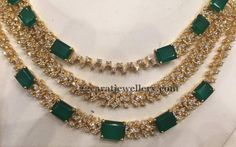 Jewellery Designs: 51 Grams Emerald Set Chandbalis