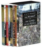 The Lord of the Rings trilogy plus the prequel. A great story and entertaining read.