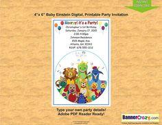 Baby Einstein Birthday Party Invitation Invites 4x6 INSTANT DOWNLOAD Editable PDF Personalize Birthday Party Ideas Printable Baby Einstein