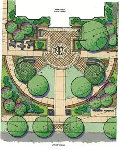 Landscape Architecture Design Backyard Plants Ideas For 2019 Landscape Architecture Drawing, Architecture Concept Drawings, Landscape Sketch, Landscape Design Plans, Garden Design Plans, Landscape Drawings, Cool Landscapes, Plan Design, Design Ideas