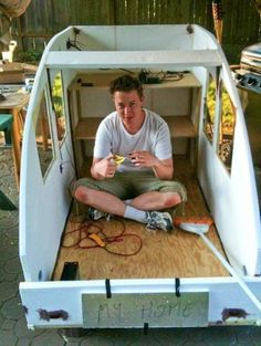 The BikeRV is now rolling the streets of Portland.(Photos: Alexander Main) 26-year-old Portland resident Alexander Main wants to change the world by building tiny houses that can be pulled behind a bicycle. And he just finished his first prototype — which is a good thing because it's also his home. Main moved here from Germany Read More »