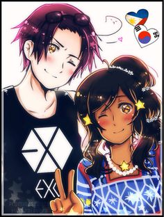 hetalia korea and philippines>>>YASS OMO EXO!!! Finally a modern representation of Korea and its KPOP!!!!!<<<< i always thought that Korea would be more into Big Bang than EXO...