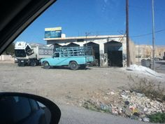 Garage in village near dead sea