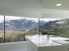 wunderschöne Sicht-Gebirge Schweiz-Luxus Villa