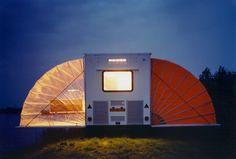 Award winning De Markies Camper Caravan can be rented in Amsterdam's urban camping park Glamping, Tent Camping, Campsite, Camping Gear, Camping Trailers, Camping Equipment, Kombi Motorhome, Casa Patio, Tiny Living