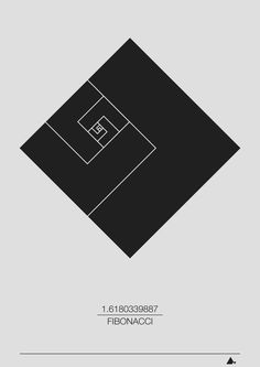"""Fiboncci Sequence (Square)"" Art print Leonardo Fibonacci is an Italian mathematician from the 12th century."