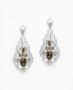 Ann Taylor Mirrored Crystal Earrings - $58