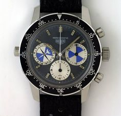 """Mareograph also called the """"seafarer"""", the World's first chronograph with a tide level indicator and dial for regattas. #watch #watches #men #chronograph"""