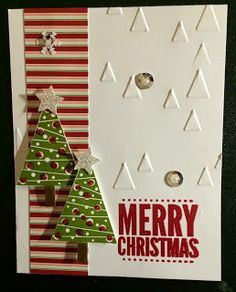 Saturday, September 2014 Kards by Kadie: Merry Christmas Festival of Trees, Merry Everything, Trim the Tree DSP Stack, On Point TIEF Chrismas Cards, Christmas Cards To Make, Noel Christmas, Xmas Cards, Christmas Greetings, Handmade Christmas, Holiday Cards, Homemade Christmas Cards, Homemade Cards