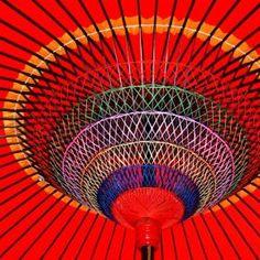 colorful underside of Umbrella - Pixdaus