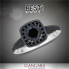 Halloween is around our corner. As we search for perfect treats, we also begin our search for decorations, dresses, and accessories. In order to ease your pressure, let us help you turn your festive outfits into extraordinary with Angara's black diamond jewelry: