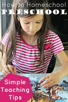 How to Homeschool Preschool: Simple teaching tips and the biggest mistake parents make when teaching their children at home.