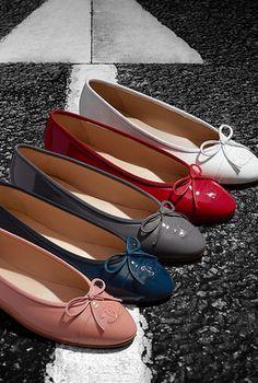 Chanel Patent Calfskin Ballerina Flats $750