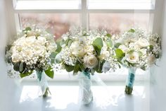 Gypsophila, eucalyptus and roses are a romantic combination for an English Country Garden wedding : Mirror Imaging Photography: Amanda & Mike's Wedding in Granby Nottinghamshire