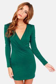 Foreign Film Hunter Green Dress