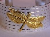 Dragonfly Silver Cuff Bracelet