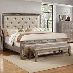 BestMasterFurniture Ava Upholstered Platform Bed