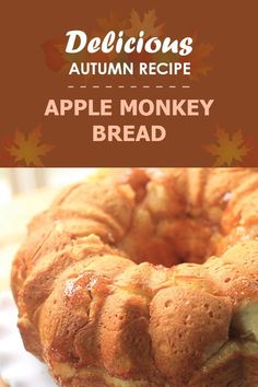 Amazing Caramel Apple Monkey Bread! This loaf is layered with fresh apples and drizzled with an apple caramel.