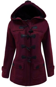 Hoodies are always and still popular by ladies and girls. You still want to wear hoodies in winter cold day? This hooded coat will let your dream come true. Color: Wine Red, Black, Grey Size: M, L, XL