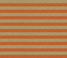linen_orange_stripe fabric by holli_zollinger on Spoonflower - custom fabric for the window seat cushion in our room?