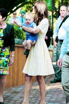 The Duchess and Prince of Cambridge in Australia, April 2014 #katemiddleton #princegeorge