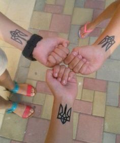 Tryzub tattoos - Ukrainian
