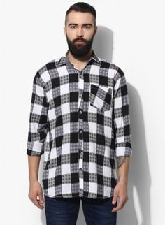 Buy Checked Brush Twill Casual Shirt Online at Low prices in India on Winsant  #shirts #casualshirt #mensfashion #fashionblogger #fashion #style #winsant #pinterestmarketing #pinterest Casual Shirts For Men, Men Casual, Online Shopping Websites, Trouser Jeans, Workout Shirts, Flannel, Short Sleeves, India, Indie