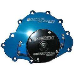 Meziere WP103B Blue Billet Electric Water Pump for Pontiac Engine Water Pump