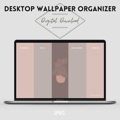 Wallpaper organizer Desktop calendar 2021 Minimalist ...