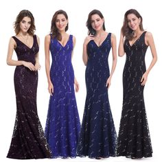 Ever-Pretty US Long Sequins Evening Dresses Bodycon V-Neck Cocktail Gown 08855 Sequin Evening Dresses, Evening Gowns, Prom Dresses, Bride Groom Dress, Ever Pretty, Cocktail Gowns, Formal Dresses For Weddings, Formal Wear, Dress Formal
