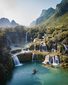 Photo by Travel + Leisure in Northern Vietnam with Image may contain: mountain, sky, outdoor, nature and water via Vietnam Tours, Vietnam Travel, Visit Vietnam, Cool Places To Visit, Places To Go, Wonderful Places, Beautiful Places, Bon Plan Voyage, Road Trip