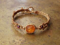 spessartine garnet bracelet