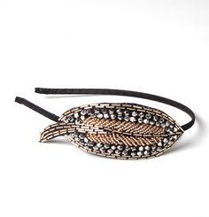 #headband #feuille #dore #argent #fête #saintvalentin #amoureux #valentin #cadeau #amour #serretete #jolietete #bijoudetete #hairstyles #accessoirescheveux    http://www.jolietete.fr/serre-tete-feuille-perle-dore-argent