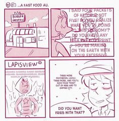 PS: pqxv tbfoa — A FAST FOOD AU by Lauren Zuke and Mira W. (from...