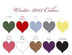 Winter 2013 Wedding Colors