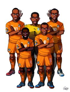 [2014 World cup Edition] C team : Ivory Coast by sakiroo.deviantart.com on @deviantART